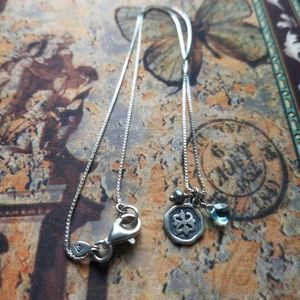 Sterling charm style necklace